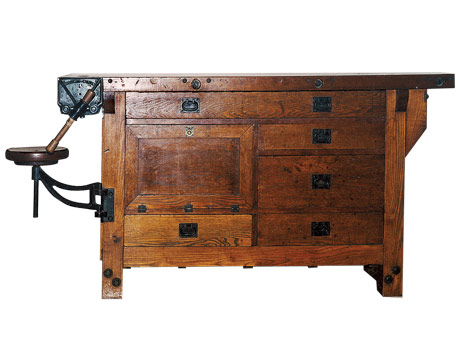 antique oak workbench