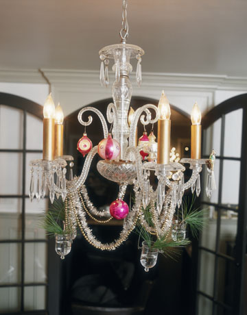 Decorate Chandelier Alluring Holiday Decorating With Christmas Ornaments 2017