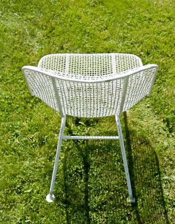 white mesh chair