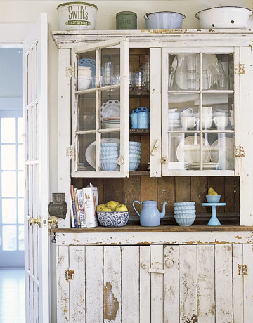 antique farmhouse kitchen cabinets 12 Shabby Chic Kitchen Ideas - Decor and Furniture for Shabby Chic Kitchens