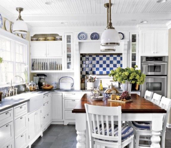 Art Small Interior  White Country Kitchen