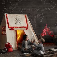 Host an Indoor Camping Party - Recipe and Entertaining Ideas