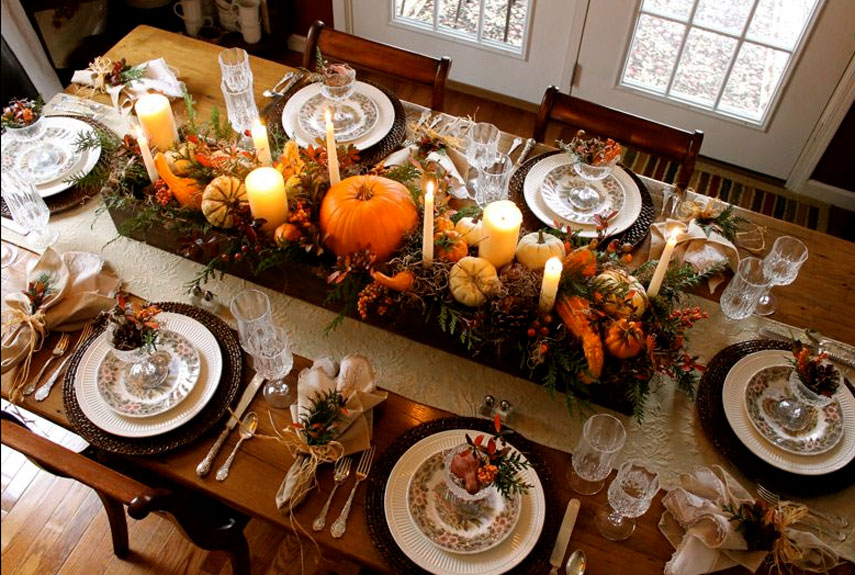 Image result for thanksgiving table