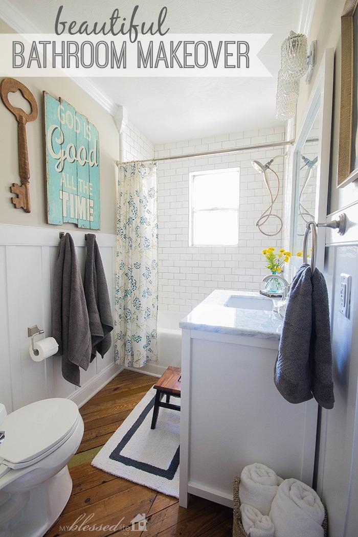 Cottage Style Bathroom Makeover  Bathroom Decorating Ideas