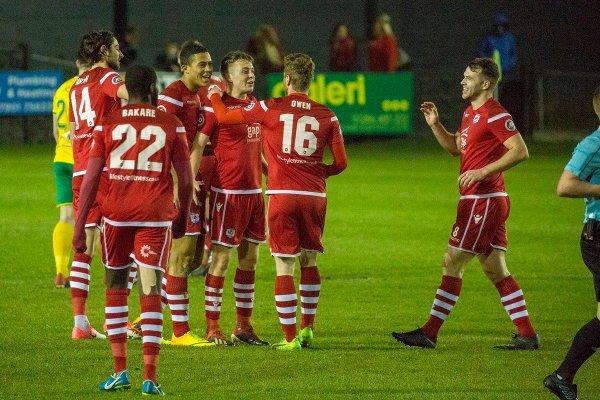 Connah's Quay Nomads a goal in their Welsh Cup quarter-final win against Caernarfon Town