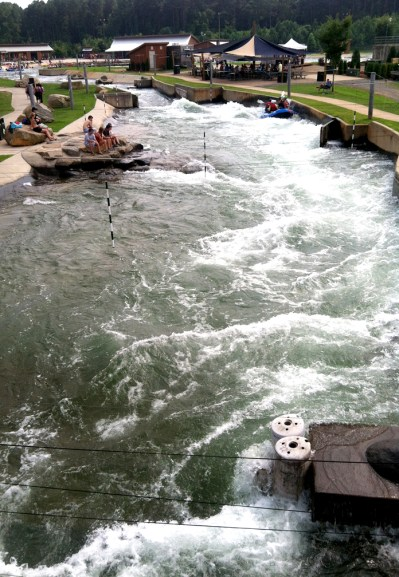 we finally went rafting at the whitewater center!