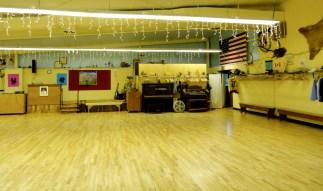the empty squaredance floor