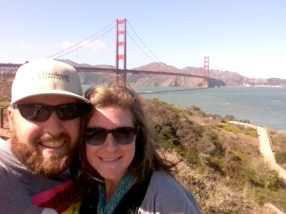junky iPhone picture at the Golden Gate