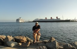 Clyde and the Queen Mary, Long Beach, CA