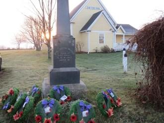 Wreathes set at Memorial
