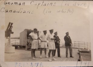 Canadian and German Captains after capture of Hermonthis