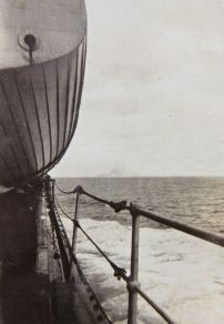 German ship sighted, but it was already scuttled