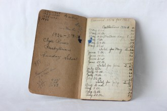 Clyde River Presbyterian Sunday School Record Book - (Donated by Beer Family)