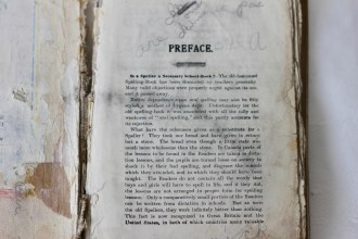 Spelling School book 1890s (Donated by Beer Family)