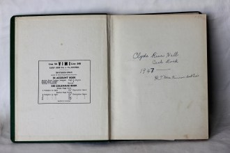 Clyde River Hall Record book 1947 (Donated by Beer Family)