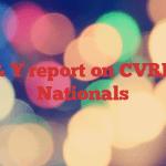 Y & Y report on CVRDA Nationals