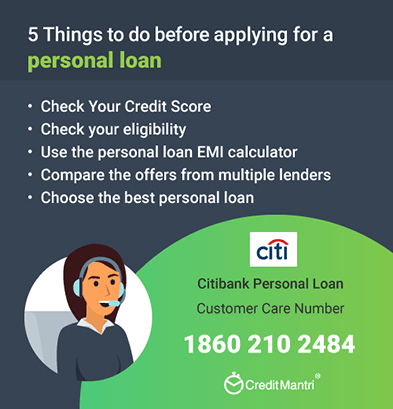 Citi Bank Personal Loan Application Status