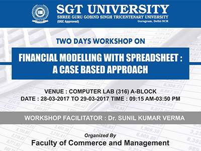 Workshop on Financial Modelling With Spreadsheet