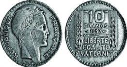 pièce 10 francs en argent