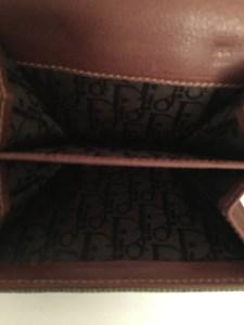 Porte monnaie Dior Street Chic bimatière cuir et toile