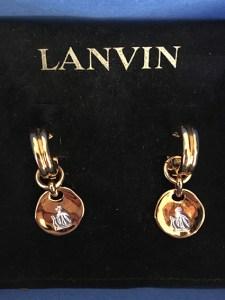 Lot de 4 paires de boucles d'oreilles Lanvin fantaisie