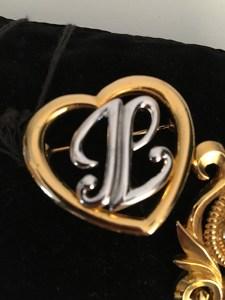 Lot de 8 broches bijoux Lanvin fantaisie
