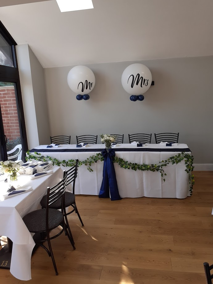 Mr and Mrs Balloons - Flowers provided by Brides Friend
