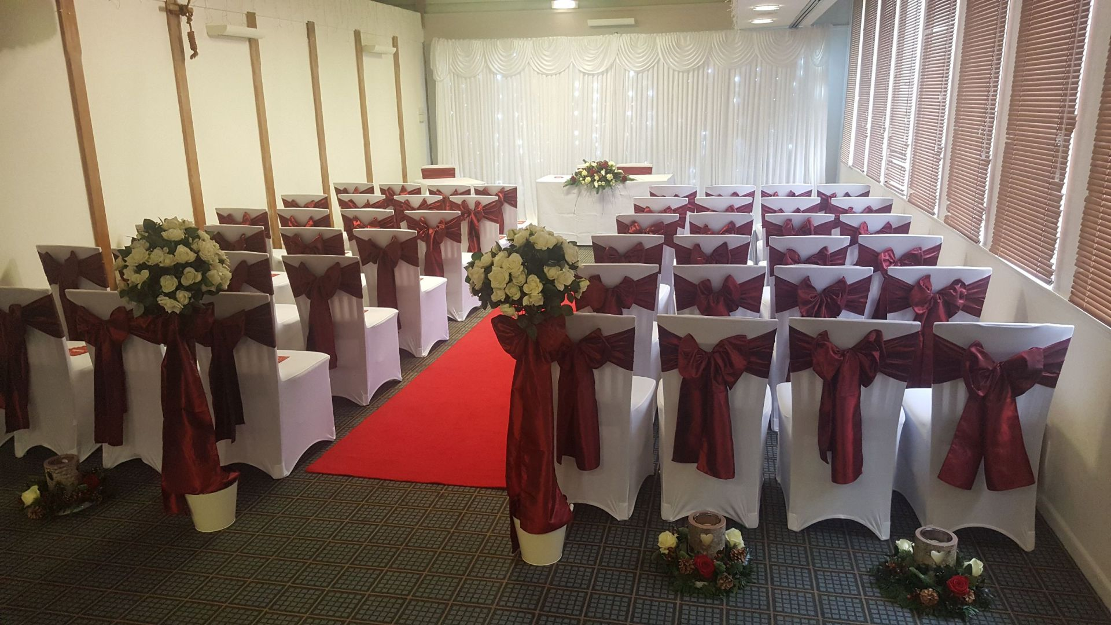 Holiday Inn Red themed Wedding