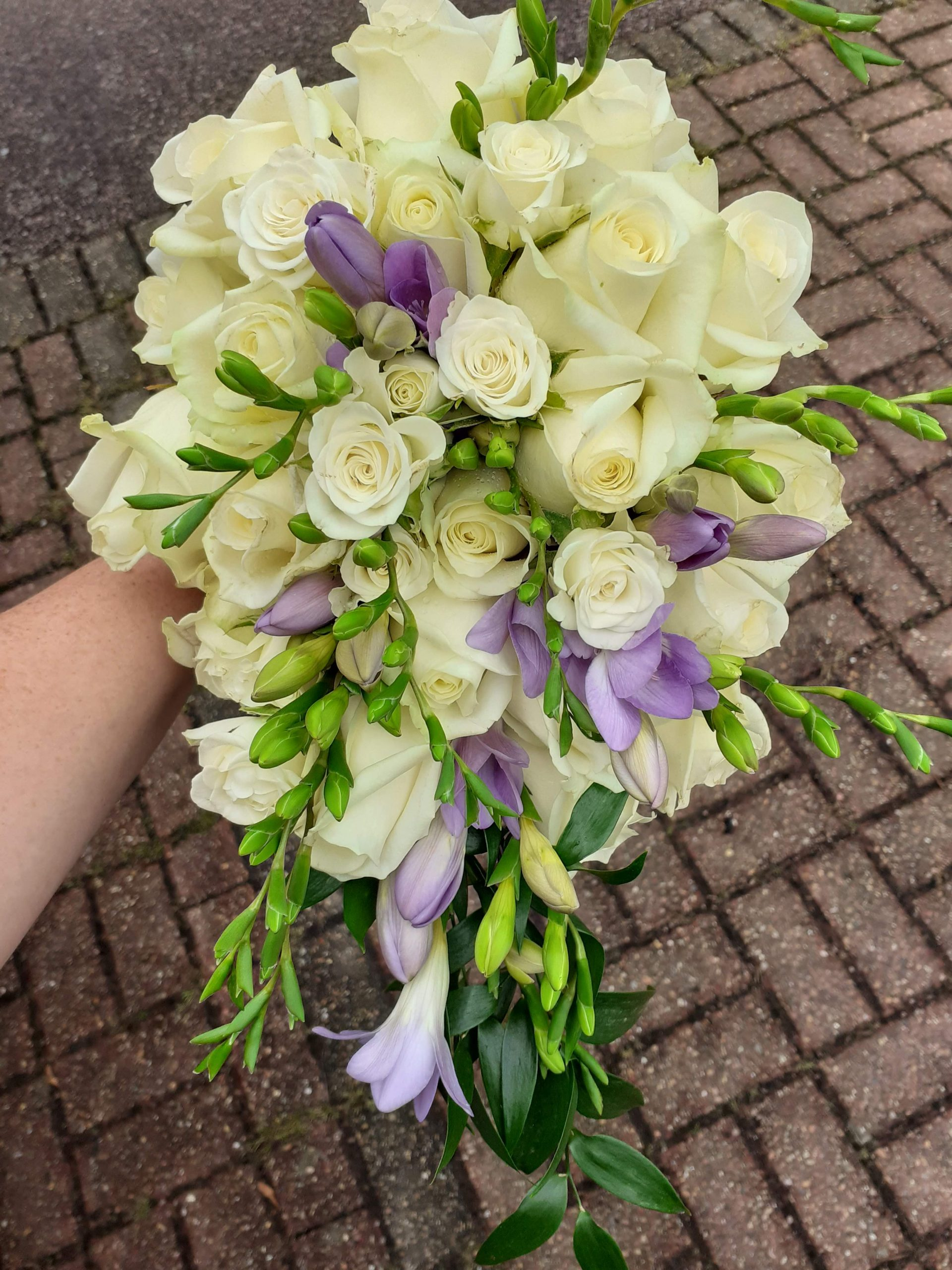 White and Lilac Fresh Flower Bouquet