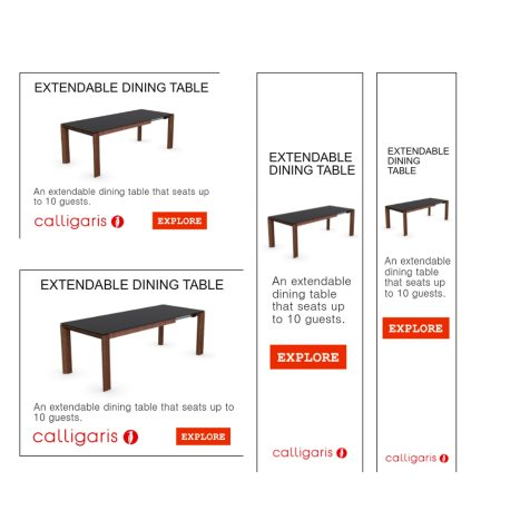 Display and Online Advertising Samples for Retail Products, Calligaris