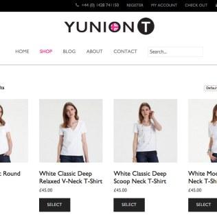 E-shop web design and E-commerce for a luxury fashion brand, YUNIONT