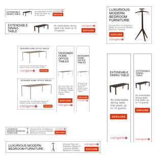 Google Display Advertising For Furniture Products, Calligaris