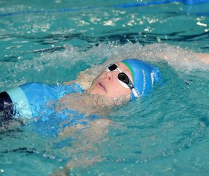 Picture of Kirsten Patrick swimming