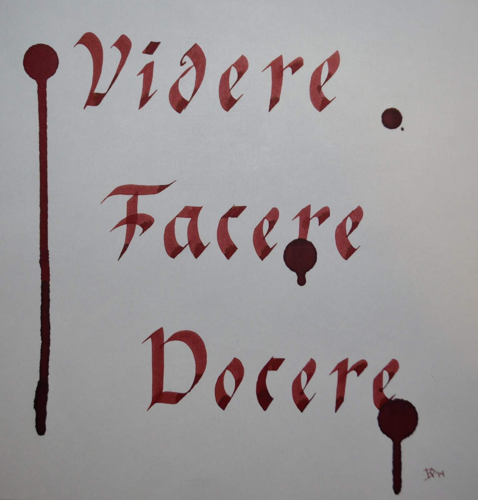 Picture of the latin words Videre Facere Docere