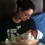 Lauren and newborn Naomi