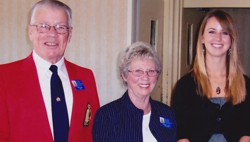 Donald Guild (Pa), Audrey Guild (Nanny) and Shannon Lough at an RCMP event in 2006. Courtesy Shannon Lough.