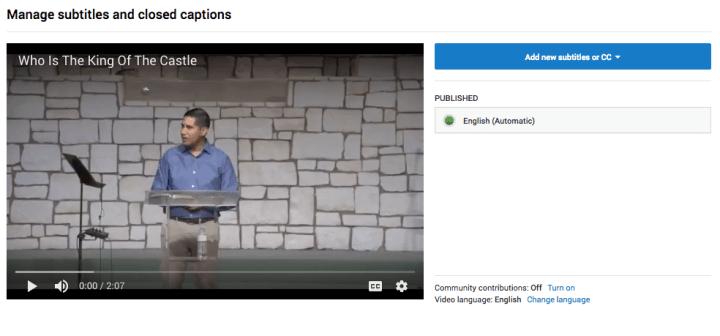 youtube automatic subtitles