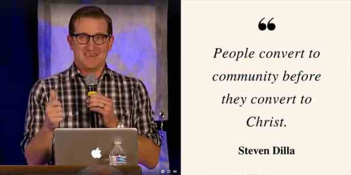 Steven Dilla quote from that church conference