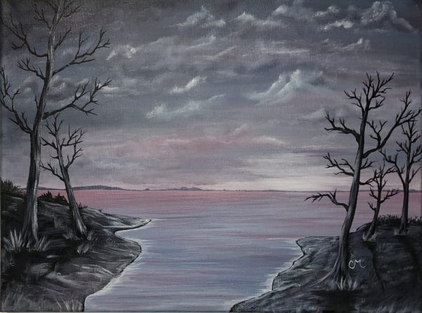 Frosty-Morning-Acrylic-Painting-by-Chelsey-Marchand