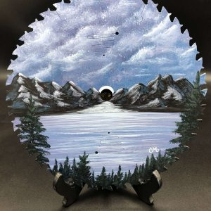 Full-Moon-Rising-painted-round-saw-blade-by-chelsey-marchand