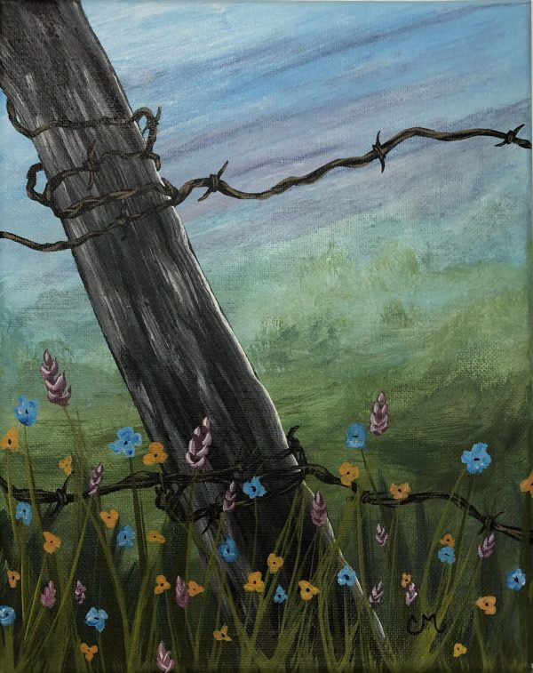 Prairie-Flowers-Acrylic-Painting-by-Chelsey-Marchand