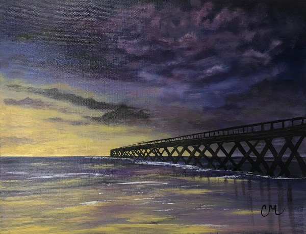 The-Pier-Acrylic-Painting-by-Chelsey-Marchand