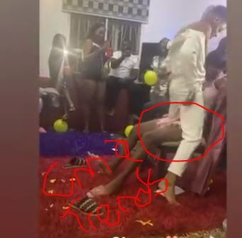 #BBNaija Elozonam Lap Dances Diane Russet On Her Birthday (Video)
