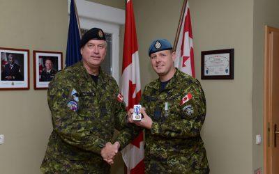 Maj Kris Hjalmarson receives medals – OP KOBOLD