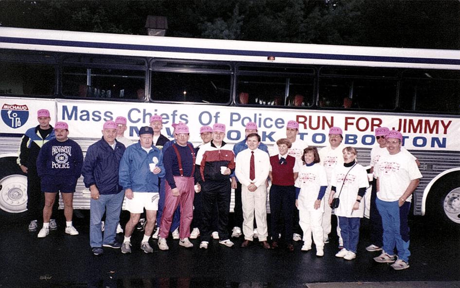 New York border starting line 1993 Run for Jimmy