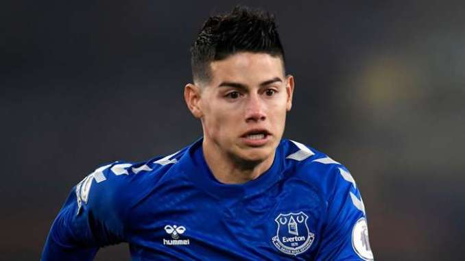 James Rodriguez Everton 2020-21