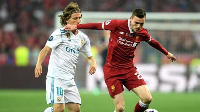 Andy Robertson Liverpool Real Madrid Champions League final 2018