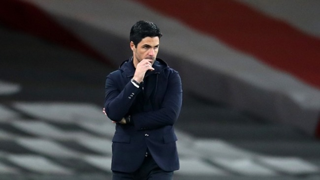 Mikel Arteta praised fans for their unity in the face of the European Super League