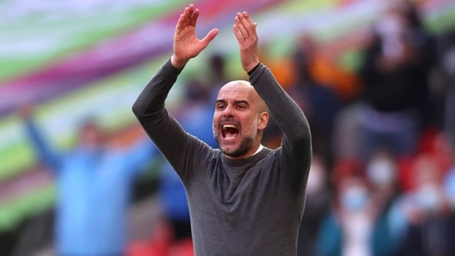 Pep Guardiola has a treble in sight for Manchester City.
