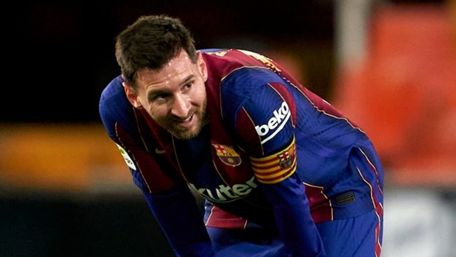 Lionel Messi scored twice for Barcelona in the win at Valencia